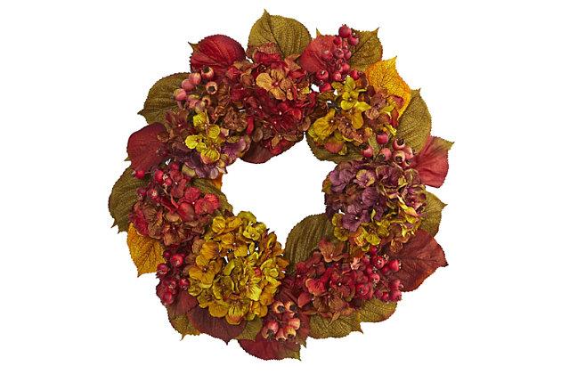 "Harvest  24"" Fall Hydrangea Wreath, , large"