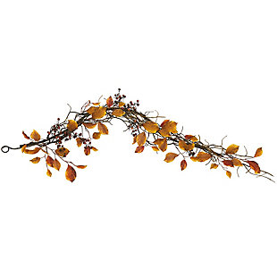 Harvest  4' Fall Foliage, Berries and Twig Artificial Garland, , large