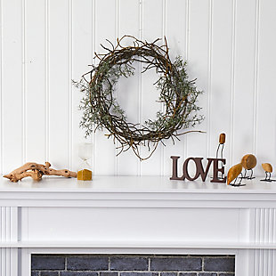 "Christmas 17"" Frosted Twig Wreath, , rollover"