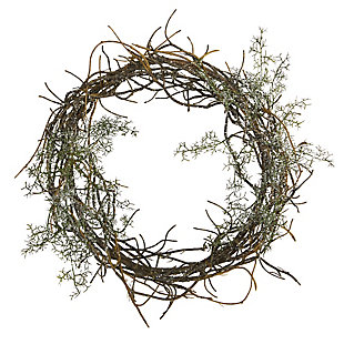 "Christmas 17"" Frosted Twig Wreath, , large"