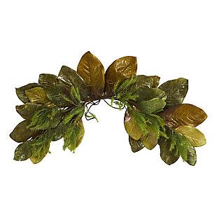 "Harvest  35"" Fall Magnolia Leaf Artificial Swag, , large"