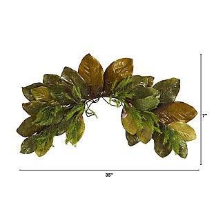 "Harvest  35"" Fall Magnolia Leaf Artificial Swag, , large"