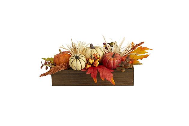 "Harvest  16"" Harvest Pumpkin and Berries Artificial Arrangement, , large"