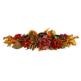"Harvest  32"" Fall Hydrangea Artificial Candelabrum Arrangement, , large"