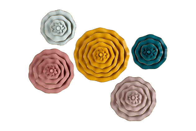 Imax Finley Dimensional Flower Wall Décor, , large