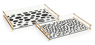 Imax Pongo Acrylic Decorative Tray (Set of 2), , large