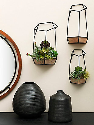 Imax Felix Wall Planters (Set of 3), , rollover