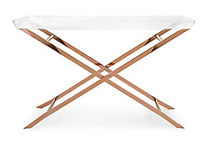 Imax Clinton Acrylic Tray Console Table, , rollover