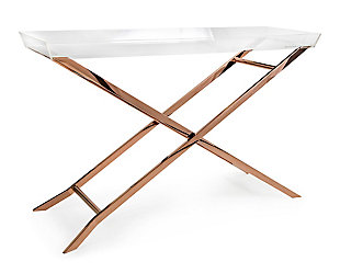 Imax Clinton Acrylic Tray Console Table, , large