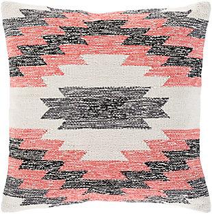 Surya Ariana Throw Pillow, Red/Burgandy, large