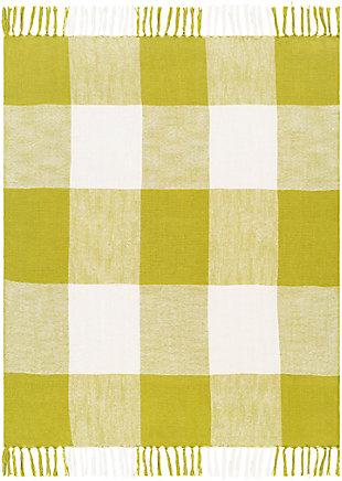 Surya Ryker Throw Blanket, White, large