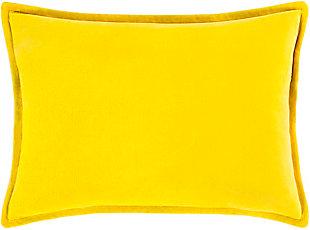 Surya Canyon Lake Throw Pillow, Yellow, rollover