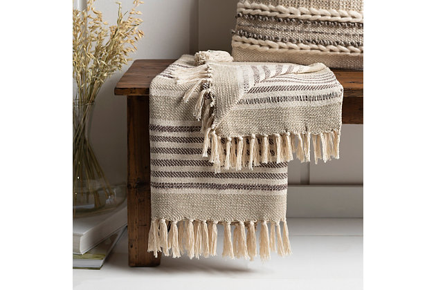 Surya Ettiene Throw Blanket, , large