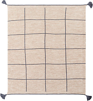 Surya Sofia Throw Blanket, Blue, large