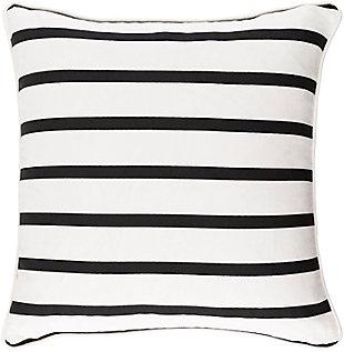 Surya Downey Throw Pillow, Black/White, rollover