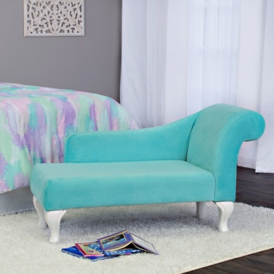 HomePop Juvenile Chaise Lounge, Blue, large