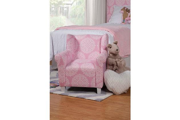 HomePop Pink Medallion Print Chair, , large