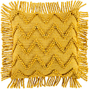 Surya Gardena Throw Pillow, Khaki/Mustard/Saffron, large