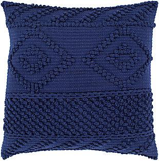 Surya Isabella Throw Pillow, Navy, rollover