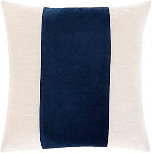 Surya Kerman Throw Pillow, Khaki/Navy/Ivory, large