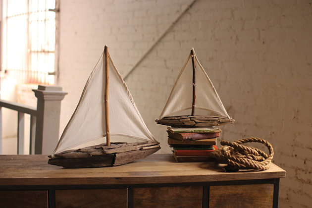 Home Accents Sail Boat Sculpture (Set of 2)