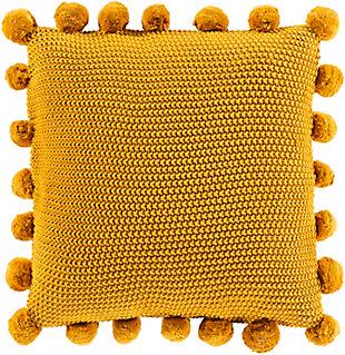 Surya Mackenzie Throw Pillow, Mustard, large