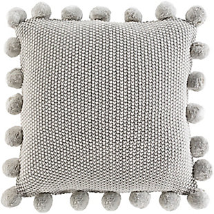 Surya Mackenzie Throw Pillow, Light Gray, large