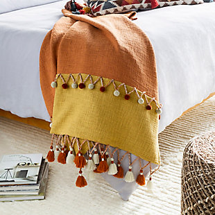 Surya Valley Throw Blanket, , rollover