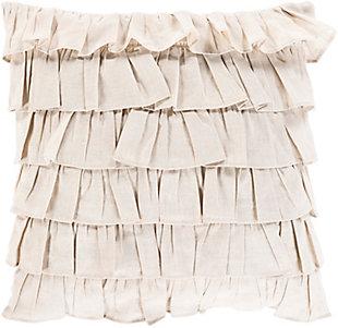 Surya Mila Throw Pillow, Ivory, large
