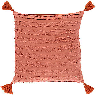 Surya Monrovia Throw Pillow, Clay, rollover