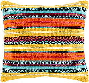 Surya Paisley Throw Pillow, Multi, large