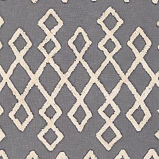 Surya Verdes Throw Blanket, Medium Gray/Cream, large