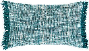 Surya Paramount Throw Pillow, Khaki/Teal/Ivory, large