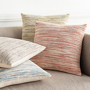 Surya Providence Throw Pillow, Beige/Camel/Black, rollover