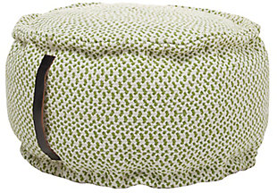 """Nourison Mina Victory Indoor/Outdoor Pillow 20"""" X 20"""" X 12"""", Green, large"""