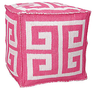 Nourison Mina Victory Indoor/Outdoor Pillow, Hot Pink, large
