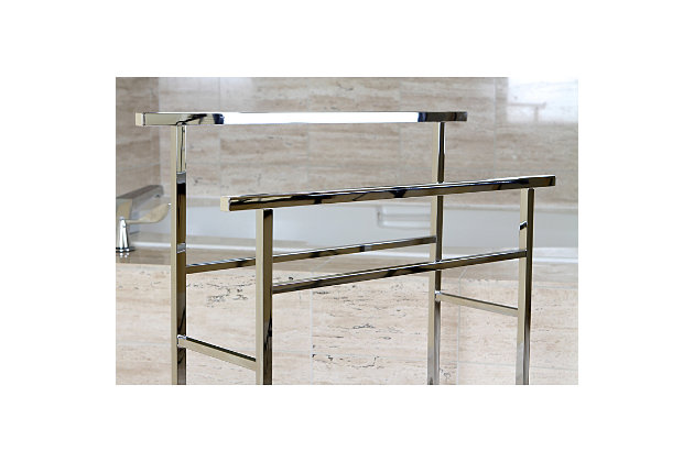 Kingston Brass Edenscape Freestanding Pedestal Towel Rack, Polished Chrome, large