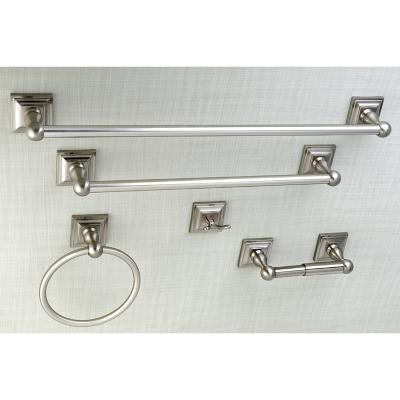 Kingston Brass Serano 5-piece Bathroom Hardware Set, Brushed Nickel, large