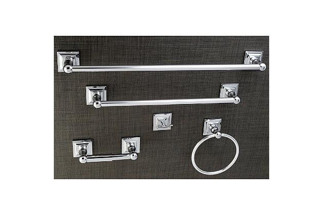 Kingston Brass Serano 5-piece Bathroom Hardware Set, Polished Chrome, large