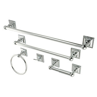 Kingston Brass Serano 5-piece Bathroom Hardware Set, Polished Chrome, large