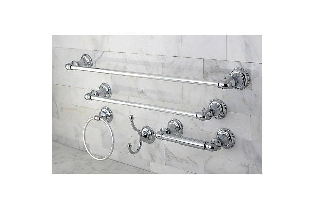 Kingston Brass Provence 5-piece Bathroom Hardware Set, Polished Chrome, large