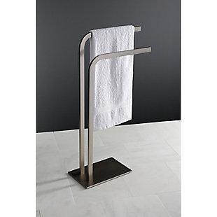 Kingston Brass Edenscape Freestanding Towel Rack, Brushed Nickel, large