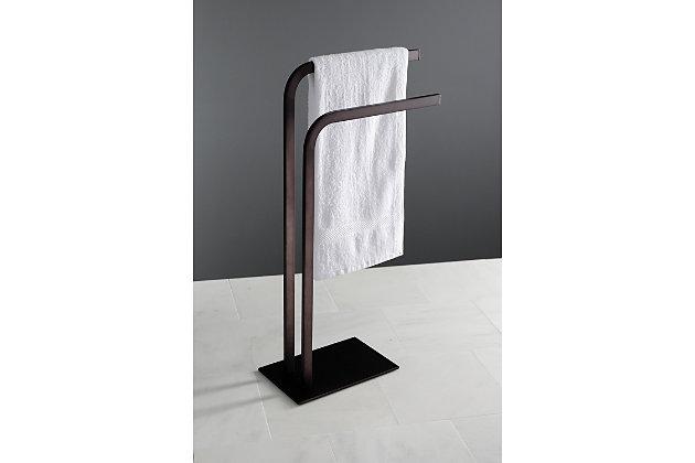Kingston Brass Edenscape Freestanding Towel Rack, Oil Rubbed Bronze, large