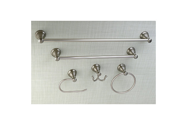 Kingston Brass Mesa Verde 5-piece Bathroom Hardware Set, Brushed Nickel, large