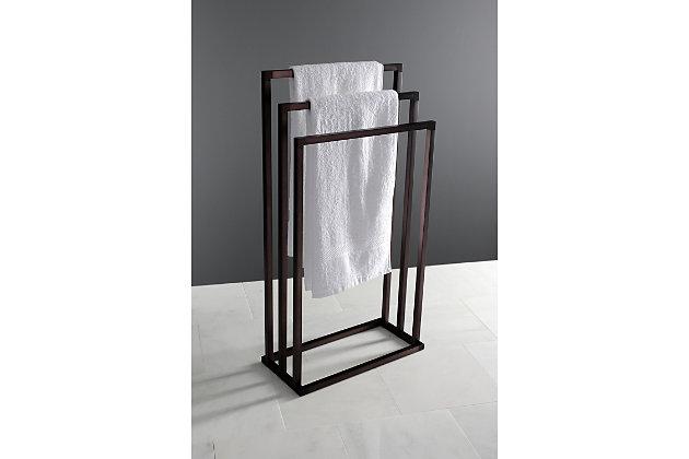 Kingston Brass Edenscape Freestanding Triple Towel Rack, Oil Rubbed Bronze, large