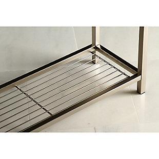 Kingston Brass Edenscape Freestanding Multi-Tier Towel Rack, Brushed Nickel, large