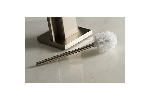 Kingston Brass Edenscape Toilet Paper Holder with Brush and Holder, Brushed Nickel, large