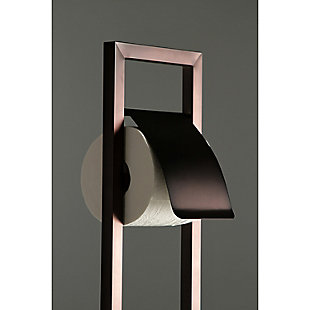 Kingston Brass Edenscape Toilet Paper Holder with Brush and Holder, Oil Rubbed Bronze, large