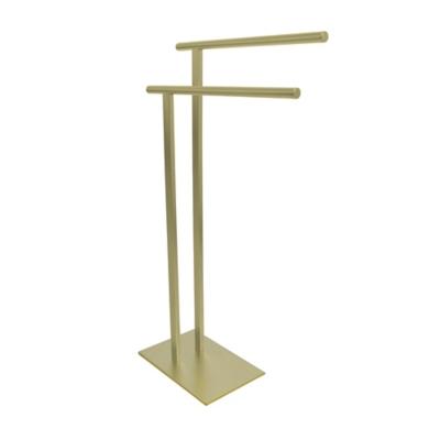 Kingston Brass Edenscape Freestanding Dual Towel Rack, Polished Brass, large