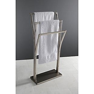 Kingston Brass Edenscape Freestanding Y-Style Towel Rack, Brushed Nickel, large
